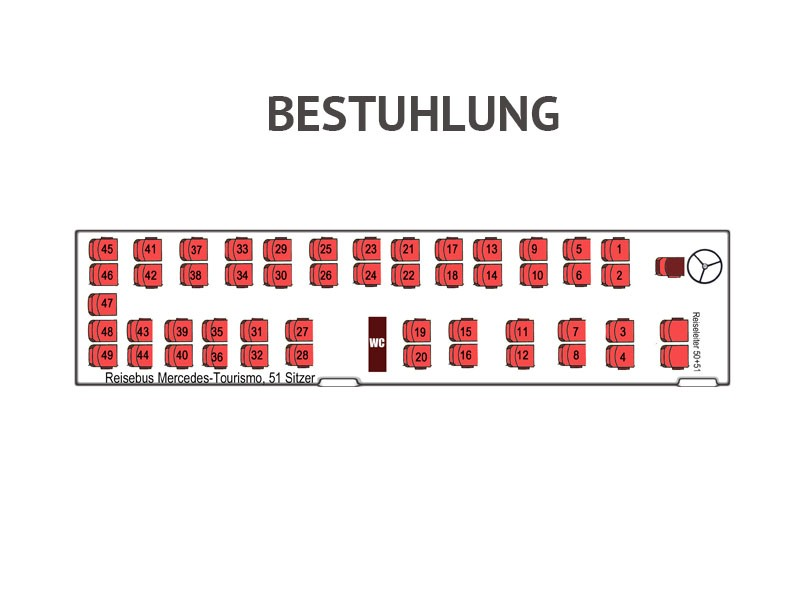 Mercedes Tourismo 51 Sitzplätze