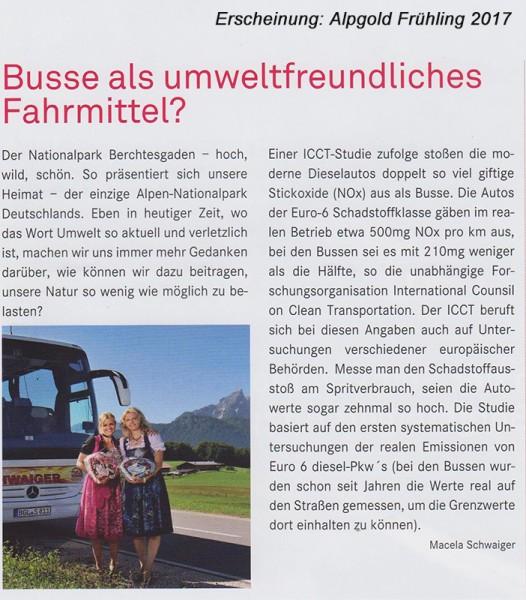 Presse Alpengold 2017