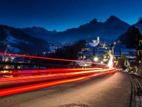 Unterwegs auf Nacht in Berchtesgaden