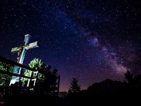 Rossfeld - Abendstimmung mit der Milchstraße